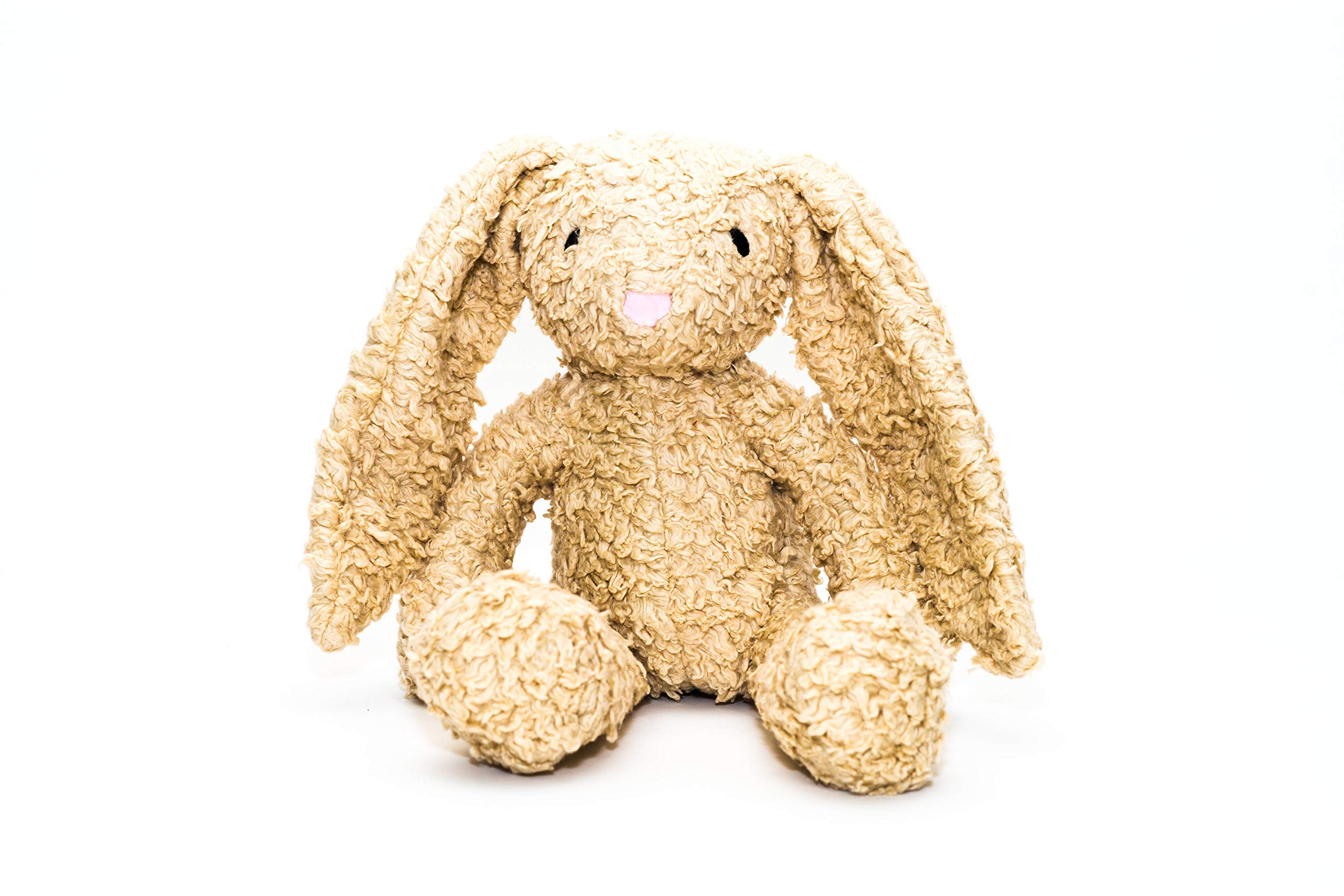Bears For Humanity Organic Sherpa Rabbit Plush Animal Toy, Cream, 12'' by Bears For Humanity