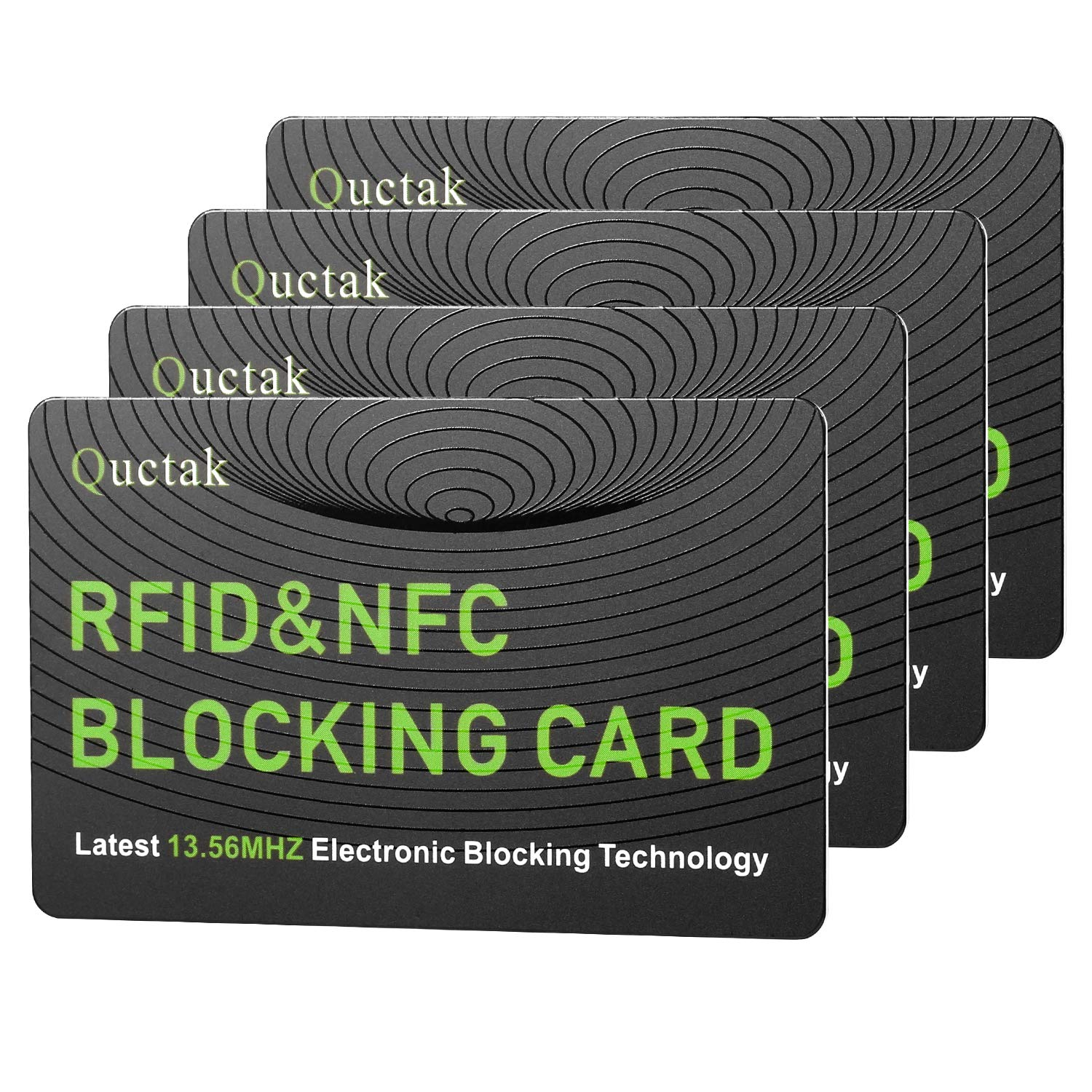 RFID Blocking Card, NFC Contactless Cards Protection Entire Wallet & Purse Shield, No More Need for Single Sleeves, Credit Card Holder, Wallets or Passport (Green) by Quctak