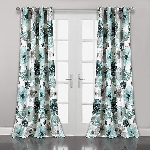 "Panel Pair 84/"" x Lush Decor Lush Décor Leah Room Darkening Window Curtain Set"