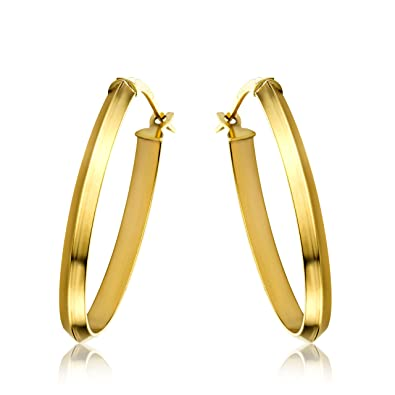 Miore Earrings Women Hoops Yellow Gold 9 Kt/375 i3xsZClD