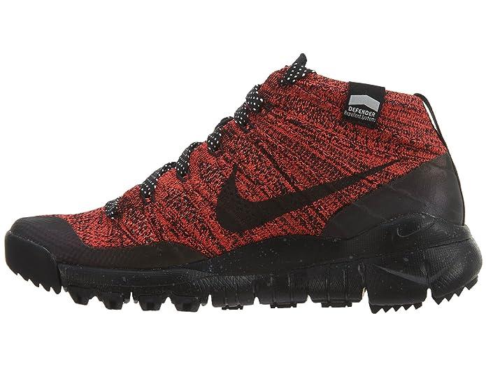 b5a5bbe309e6 Nike Womens W Flyknit Trainer Chukka Fsb Bright Crimson Black-Sequoia Fabric  (5.5