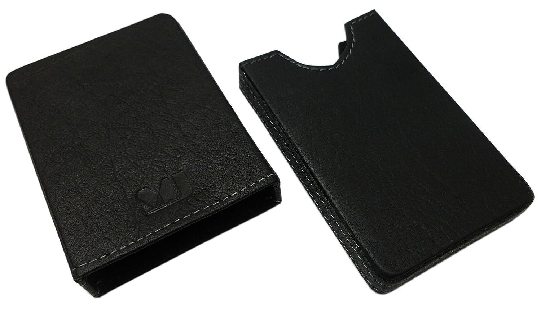 MJ-Design-Germany Kreditkartenetui Kartenbox f/ür 10 Scheckkarten B/üffelleder in Schwarz
