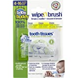 Baby Buddy Wipe N Brush Silicone Toothbrush and Dental Wipe Assistant, Clear