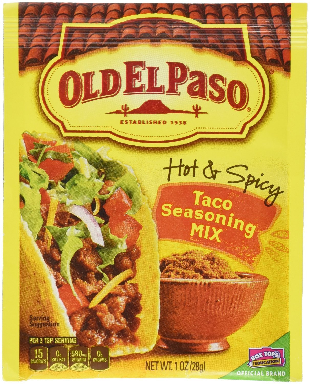 Old El Paso Hot & Spicy Taco Seasoning Mix, 1-Ounce Packages (Pack of 6)