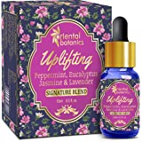 Oriental Botanics Uplifting Aroma Therapy Diffuser Oil (Peppermint, Eucalyptus, Jasmine & Lavender) - 15ml Good for Sinus Relief, Allergy Relief