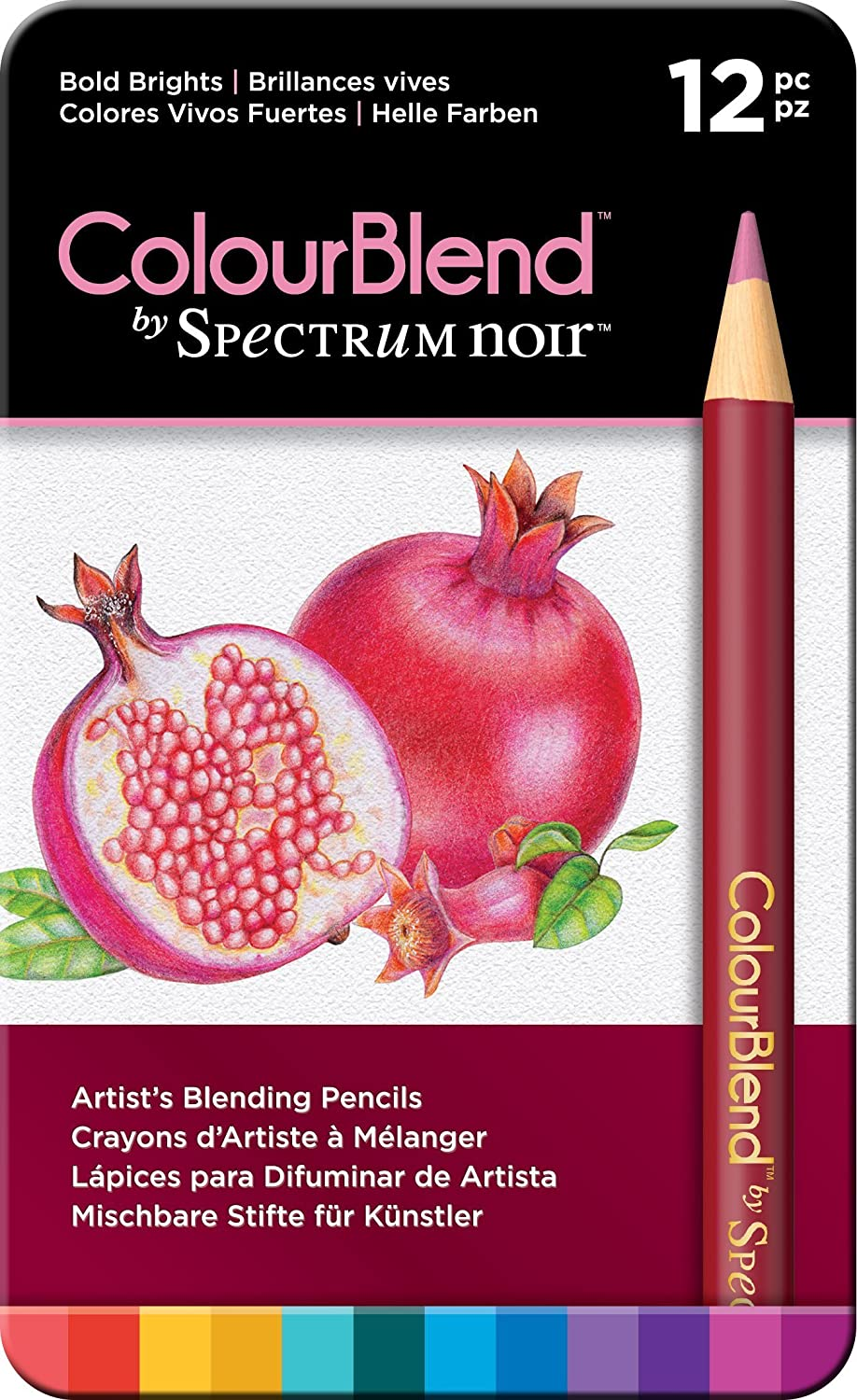 Spectrum Noir Matite da sfumare Colourblend, Essentials, 24 pezzi, Legno, Soft Tints, 19 x 12 x 1.5 cm Crafter' s Companion SPECCB-SOFT12