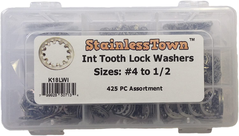"1//4/"" Stainless Steel External star lock washers 1//4 lockwashers .250 100"