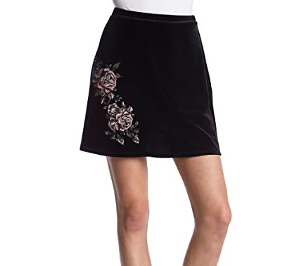 58413332a Sequin Hearts Skirt Black Embroidered Patch Velvet Mini - Black -:  Amazon.co.uk: Clothing