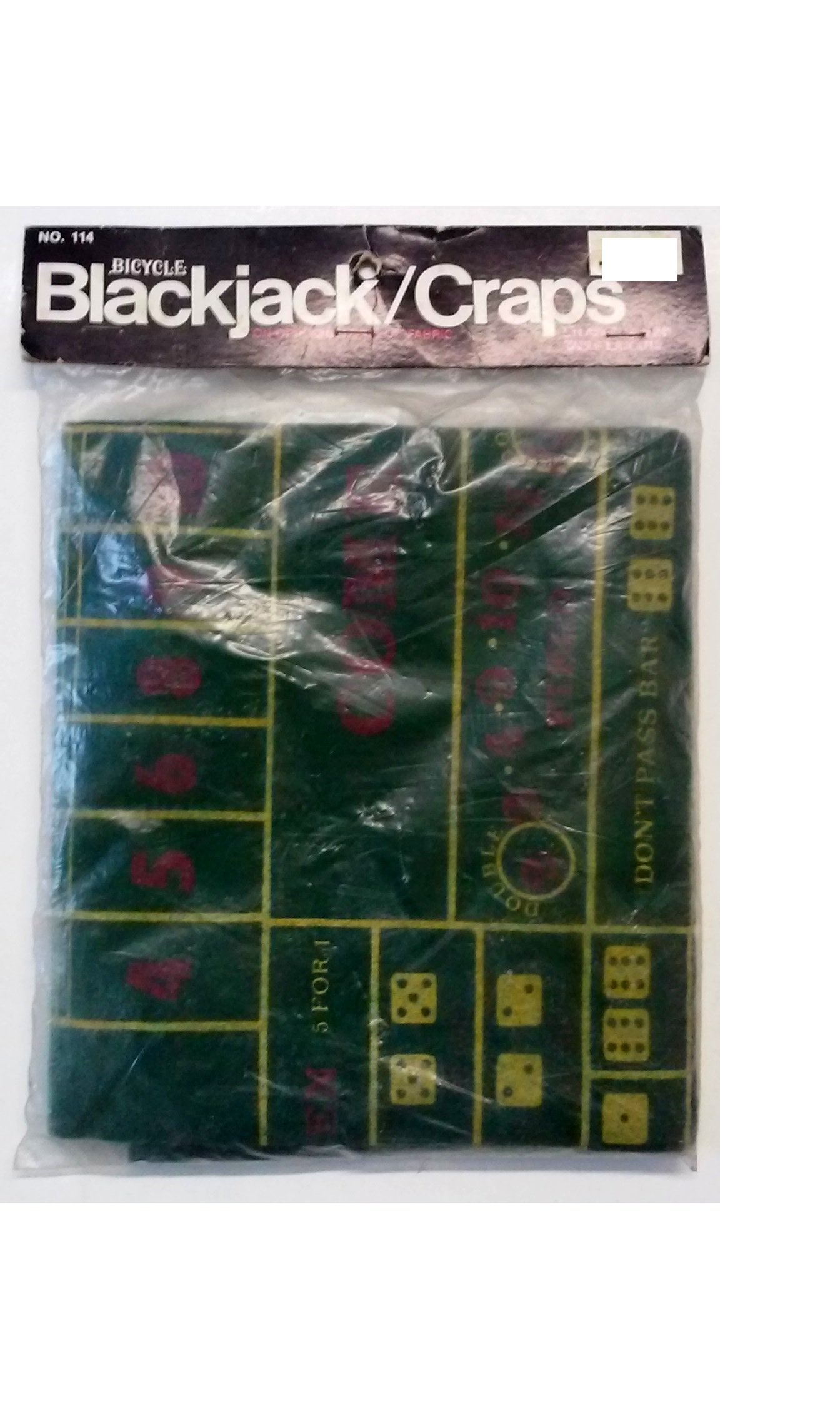 Bicycle 114 Blackjack - Craps Table Layout 36'' x 24''