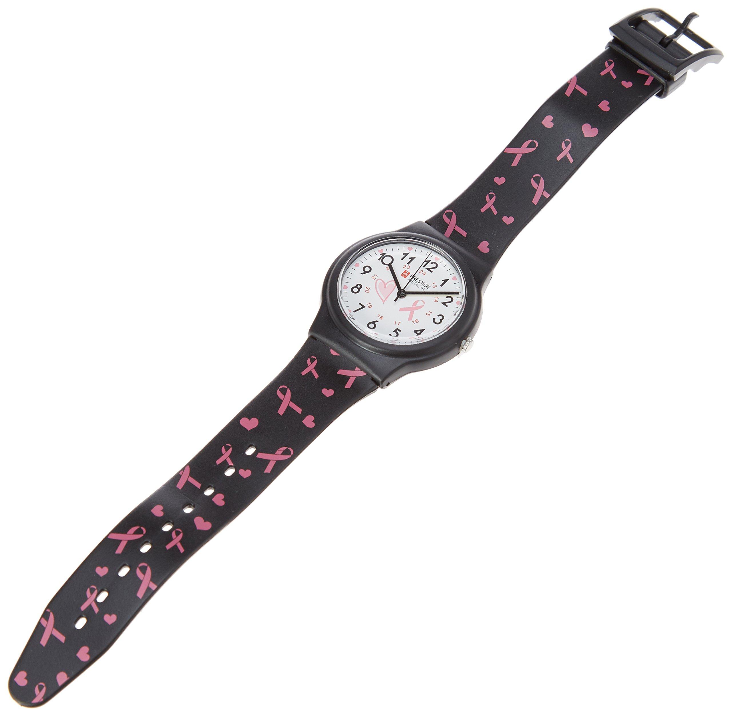 Prestige Medical Basic Scrub Watch, Pink Ribbons Black