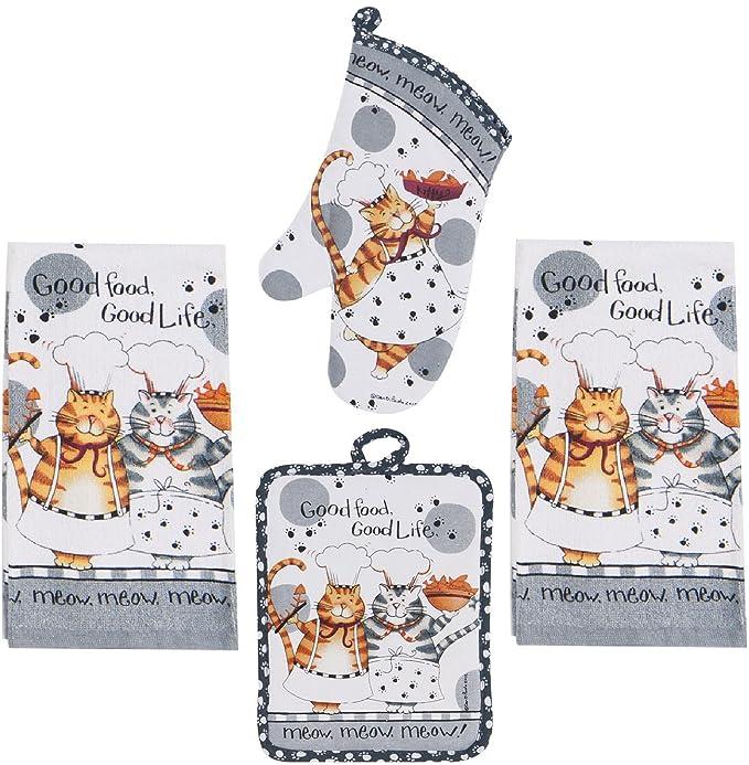 Amazon.com: 4 piezas Happy Cat Juego de utensilios de cocina ...