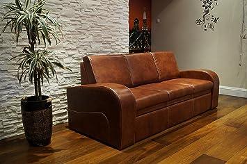 Marvelous Echtleder 3 Sitzer Sofa Oslo Fs Breite 200Cm Mit Schlaffunktion Ledersofa Echt Leder Couch Grosse Farbauswahl Interior Design Ideas Greaswefileorg