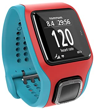 TomTom Montre GPS Runner Cardio Rouge/Turquoise (1RA0.001.04)