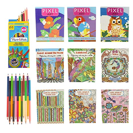 Disney Coloring Books For Kids Toddlers Bulk Set - 8 Books and Sticker Pack  (Minnie Mouse & Friends)