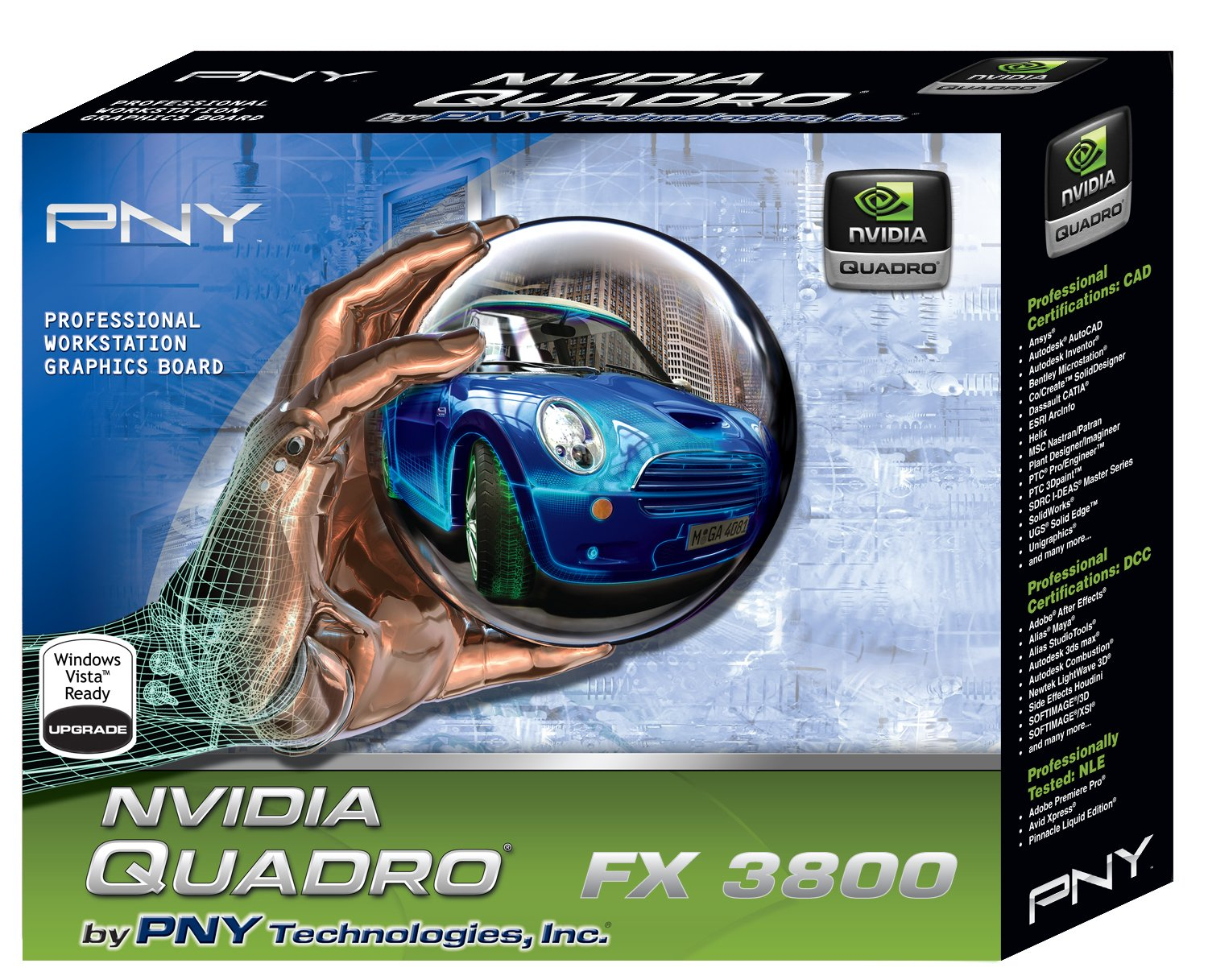 NVIDIA Quadro FX 3800 by PNY 1GB GDDR3 PCI Express Gen 2 x16 DVI-I DL Dual DisplayPort and Stereo OpenGL, DirectX, CUDA, and OpenCL Profesional ...