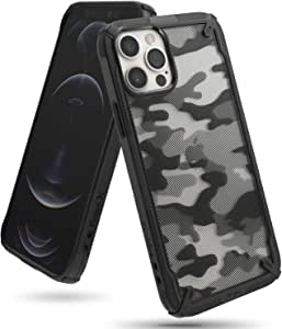 Ringke Fusion-X Compatible with iPhone 12 Case (2020) Rugged iPhone 12 Pro Cover, Military Grade Protective TPU Bumper Case for iPhone 12/12 Pro (6.1 Inch) - Camo Black
