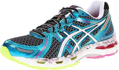 c72efc5769 ASICS Gel-Kayano 19, Damen Laufschuhe Neon Pink/Sunshine/Black, schwarz