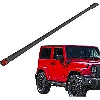 Rydonair Antenna Compatible with Jeep Wrangler JK JKU JL JLU Rubicon Sahara (2007-2020) | 13 inches Flexible Rubber…