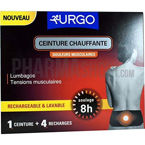URGO CEINTURE CHAUFFANTE 1 CEINTURE+4 RECHARGES b3eccb8032a
