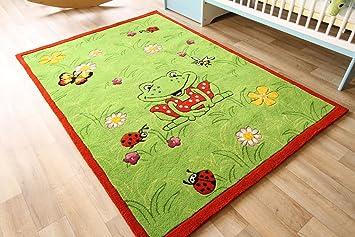Kinderteppich grün  Kinder Teppich Oskar der Frosch grün - Die Spiegelburg Teppich ...