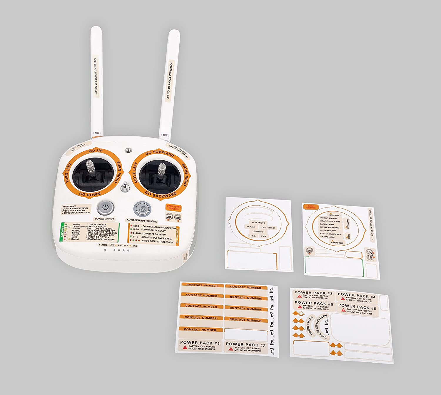 SummitLink Sticker/Set/ID/Marking/Decal/for/DJI/Phantom/3/Professional/and/Advanced/Multifunction Yellow
