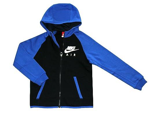 Nike Air Flash Cepillado Forro Polar Cremallera Completa Sudadera con Capucha para niños jóvenes 8 - 18, Azul: Amazon.es: Deportes y aire libre