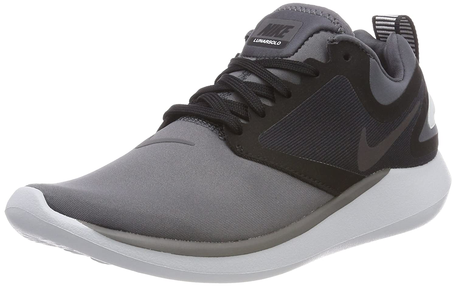 NIKE Women's Lunarsolo Running Shoes B072F83K1K 9 B(M) US|Dark Grey/Multi-color-black