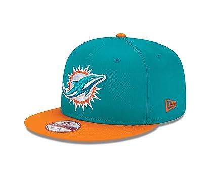 Amazon.com   New Era NFL Miami Dolphins Baycik Snap 9Fifty Snapback ... fc19d2968f69