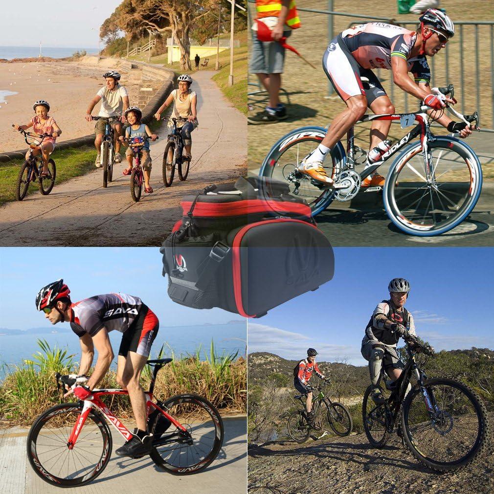 SAVA Multifunci/ón Port/átil para Asiento Trasero de Bicicleta Asiento Posterior del Tronco Bolsa Bolso de Hombro Paquete Negro /& Verde