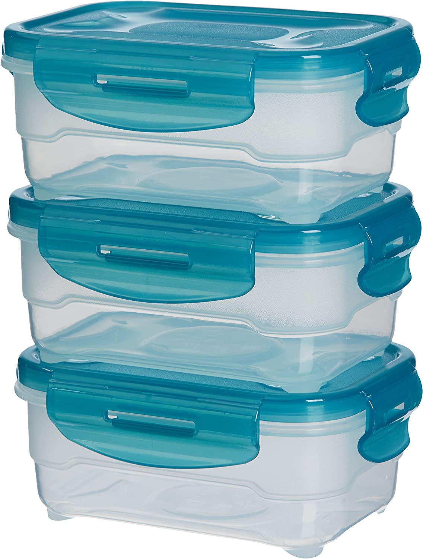 AmazonBasics: Juego de almacenamiento de comida de 3 unidades, 3 x 0,6 L