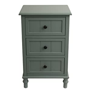 Décor Therapy FR1785 end Table, Antique Iced Blue