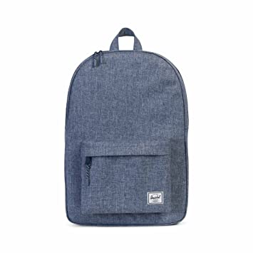 cc90ffa0809 Image Unavailable. Image not available for. Color  Herschel Classic Backpack  - Dark Chambray Crosshatch