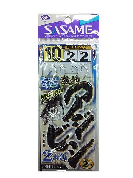 ささめ針(SASAME)D811激釣アジビシ2本釣ケイムラフック102釣り針の画像