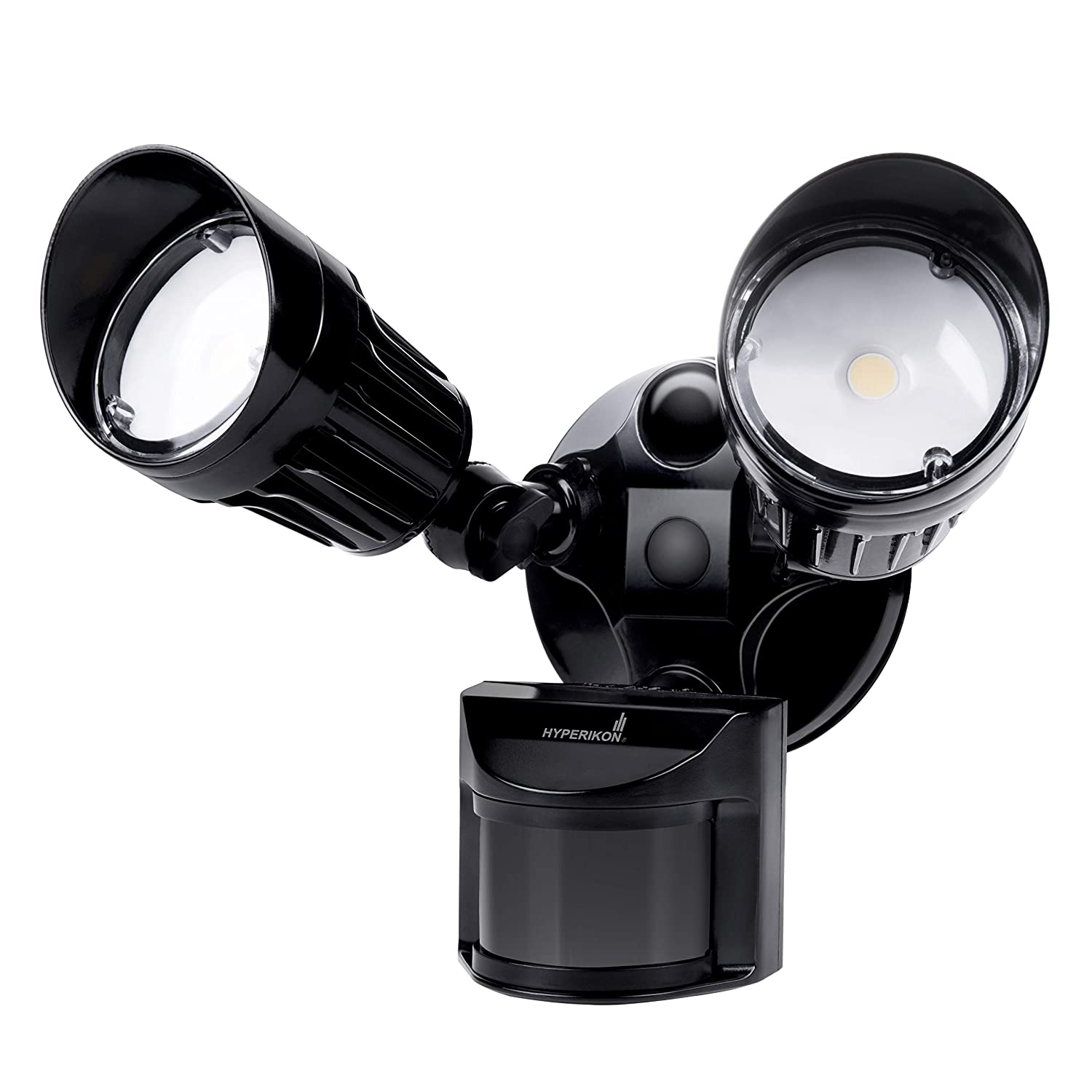 Hyperikon LED Security Light Black with Motion Sensor, 20W 100 Watt , Outdoor Flood Light Dusk to Dawn, 5000K, IP65