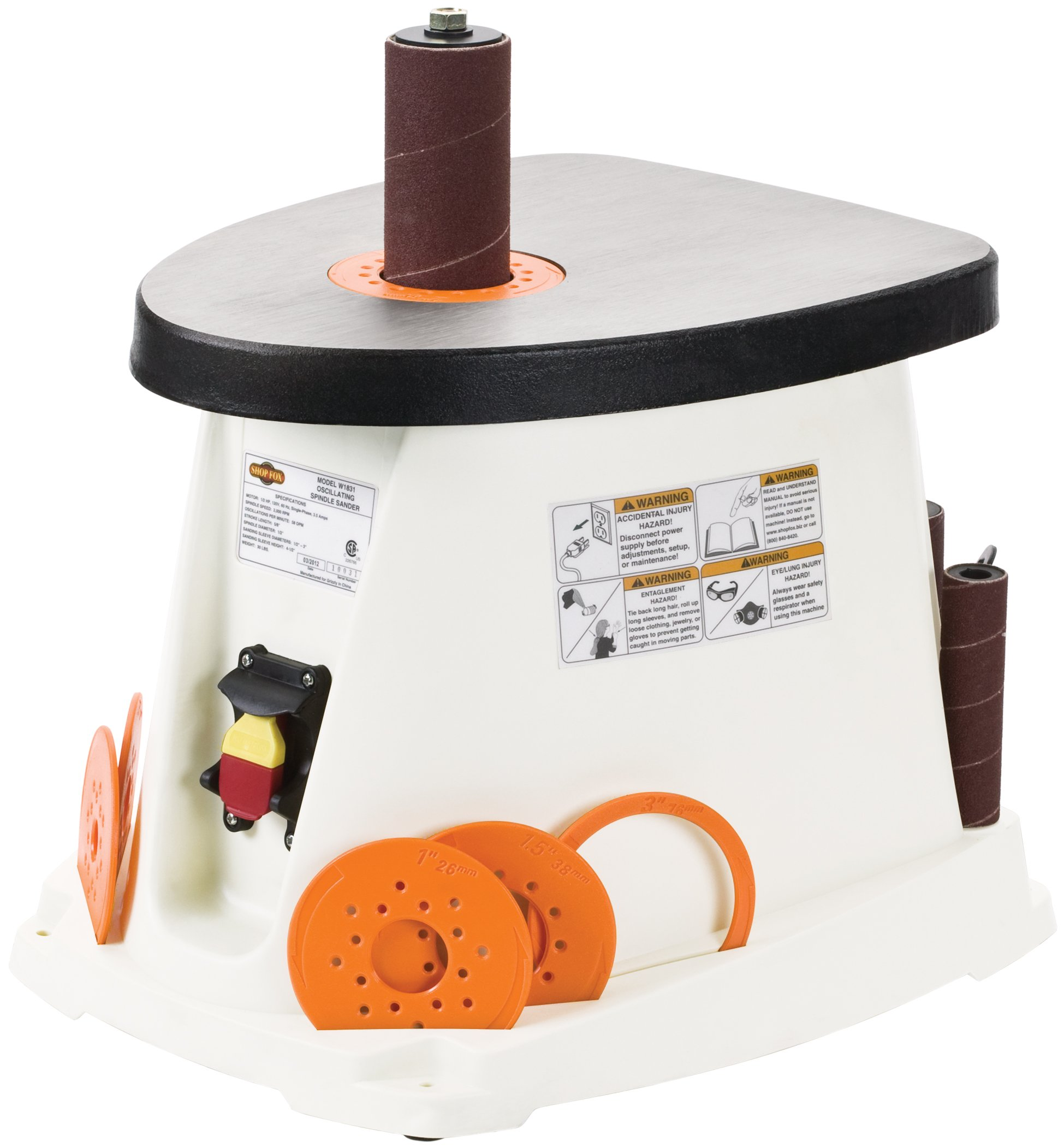 Shop Fox W1831 1/2 HP Single Phase Oscillating Spindle Sander