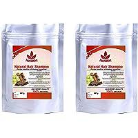 Natural Hair Shampoo with Amla, Reetha and Shikakai Powder - 227 grams. (pack of 2)