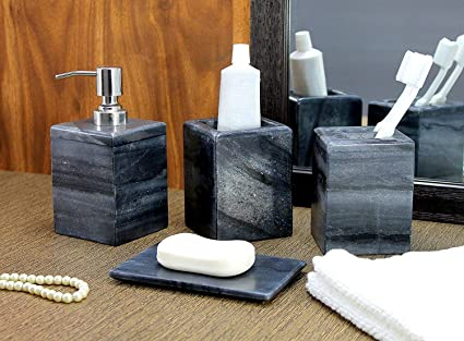 Amazon Com Kleo Bathroom Accessory Set Made From Natural Stone