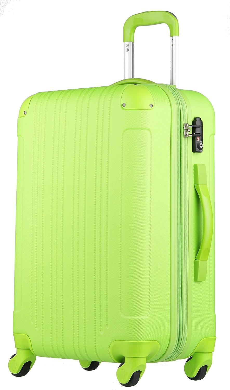 【レジェンドウォーカー】LEGEND WALKER スーツケース 容量拡張 TSAロック 超軽量 マット加工 ファスナー開閉 5082 B01GTEB8M4 Sサイズ(3~5泊/47(拡張時56)L) グリーン グリーン Sサイズ(3~5泊/47(拡張時56)L)