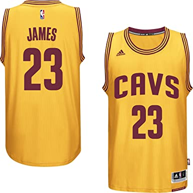 225c9751 LeBron James Cleveland Cavaliers #23 Yellow NBA Youth Alternate Swingman  Jersey (Large 14/