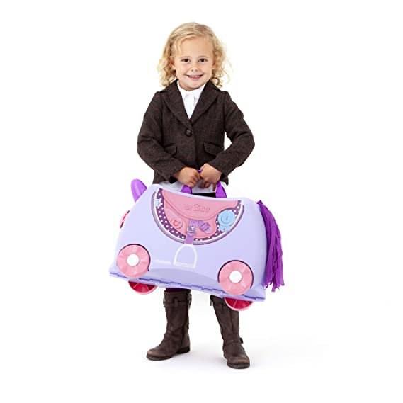 Amazon.com: Trunki Ride On Kids Suitcase Character Designer Bluebell: ship_option_#1