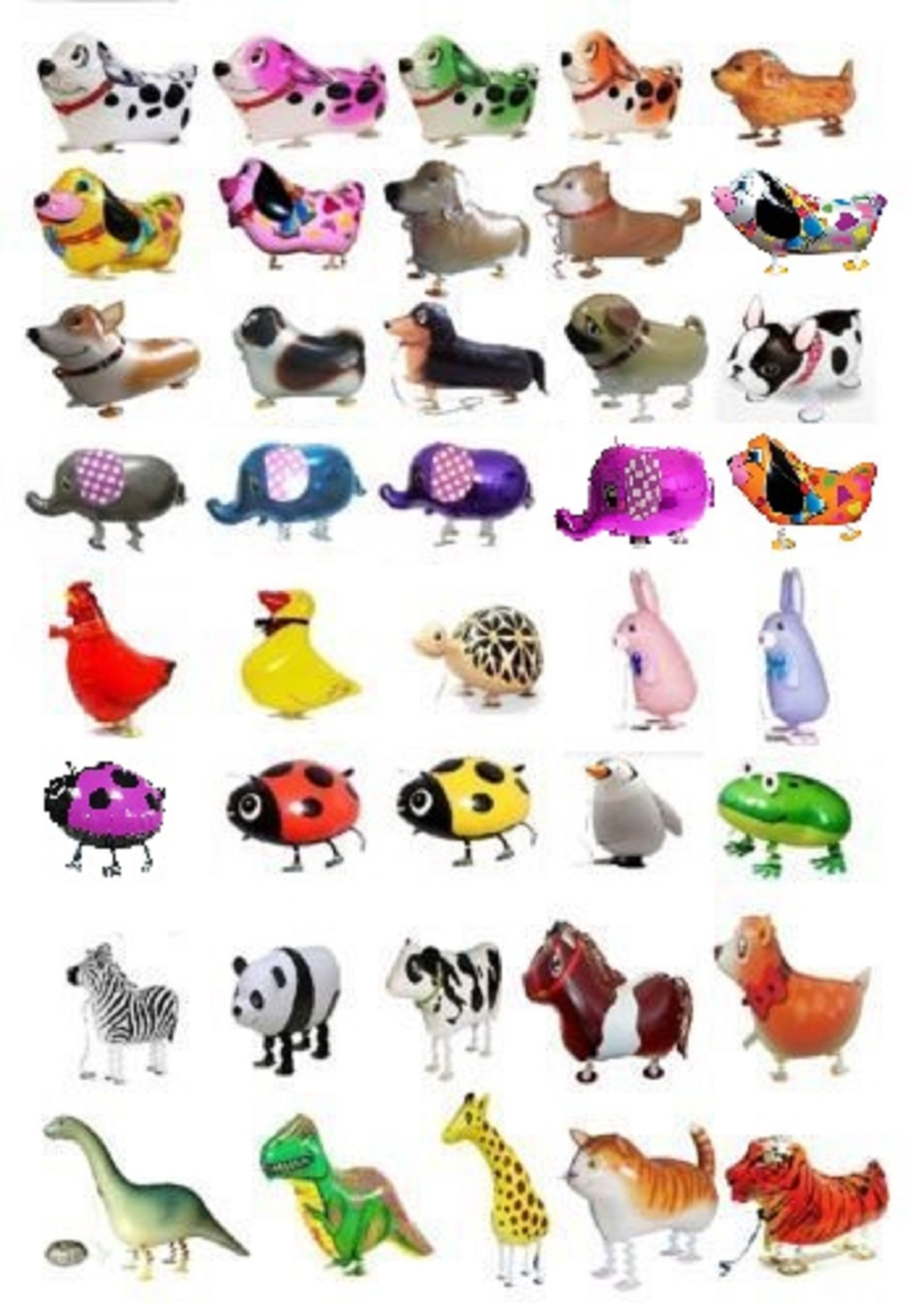 SET OF 200 WALKING ANIMAL BALLOON PETS AIR WALKERS, MIXED by MY BALLOON STORE