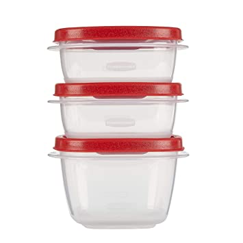 Rubbermaid Easy Find Lids Food Storage Container 6 Piece Set Red