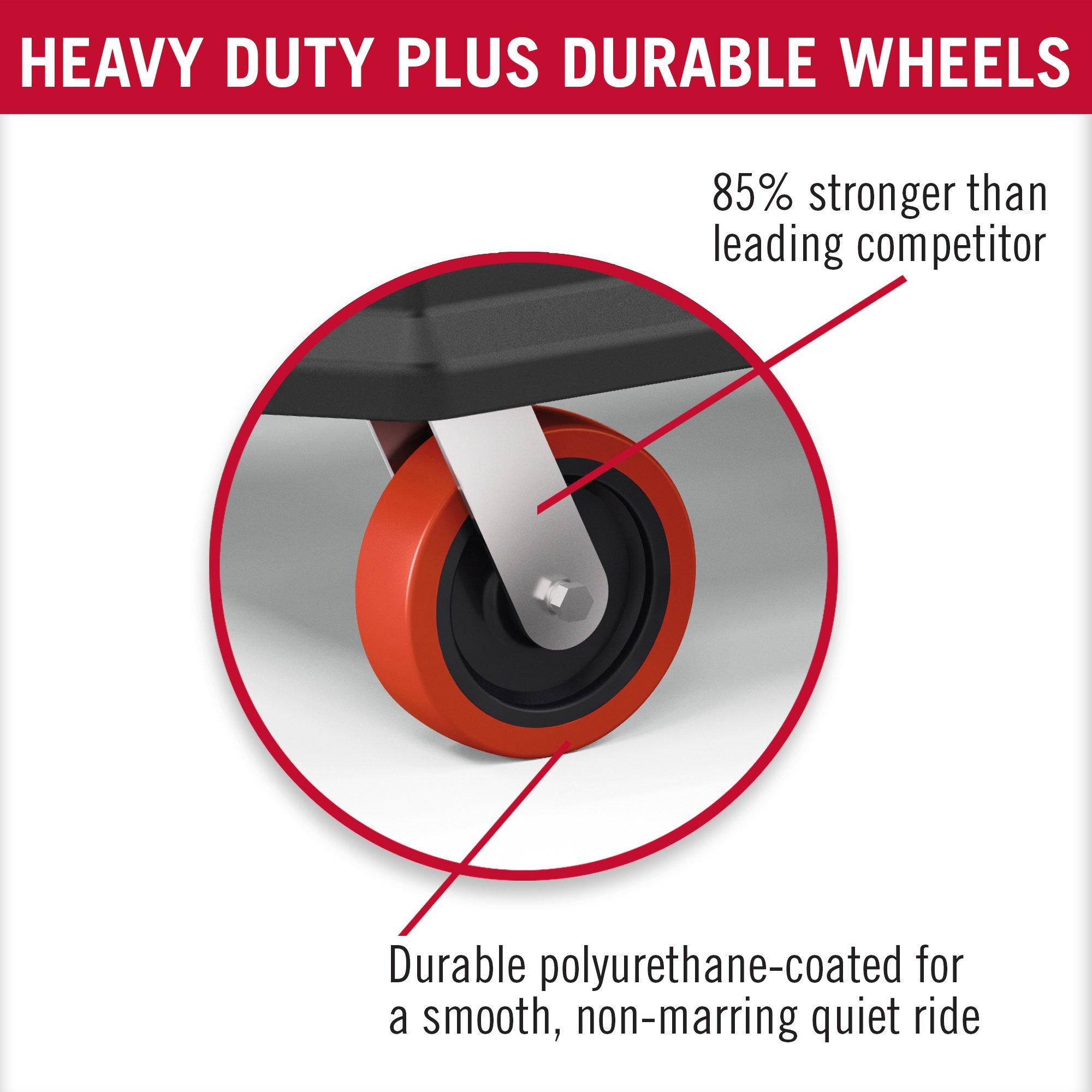 Suncast Commercial PUCHD2645 Utility Cart, Heavy Duty Plus, 500 Pounds Load Capacity, Black by Suncast Commercial (Image #4)