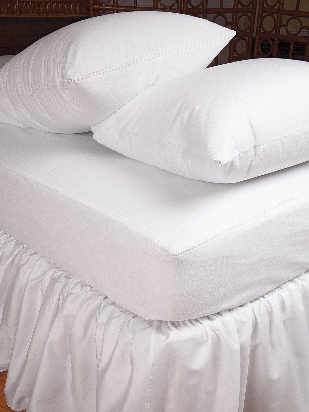 Schweitzer Linen Bed Bug Protectors Mattress Protectors, White (Crib)