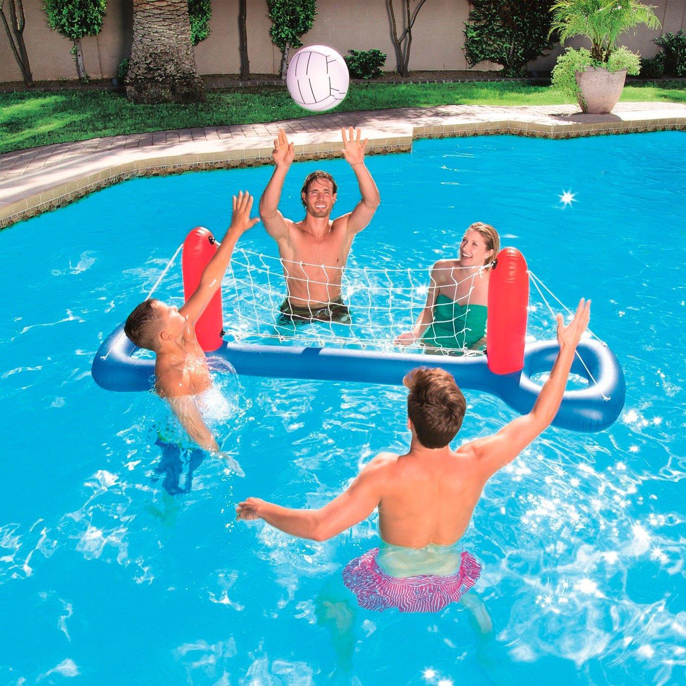 Set de Voleibol Hinchable 64 x 244 x 66 cm: Amazon.es: Juguetes y ...