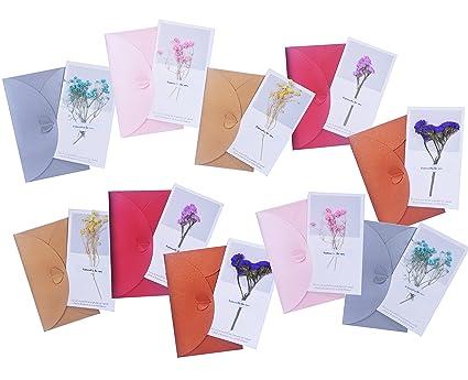 Amazon handmade dried flowers thank you card party invitation handmade dried flowers thank you card party invitation card romantic greeting cards for wedding birthday filmwisefo