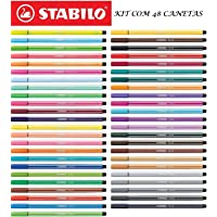 Caneta Stabilo Pen 68 C/48 Unidades - Super Kit Completo!