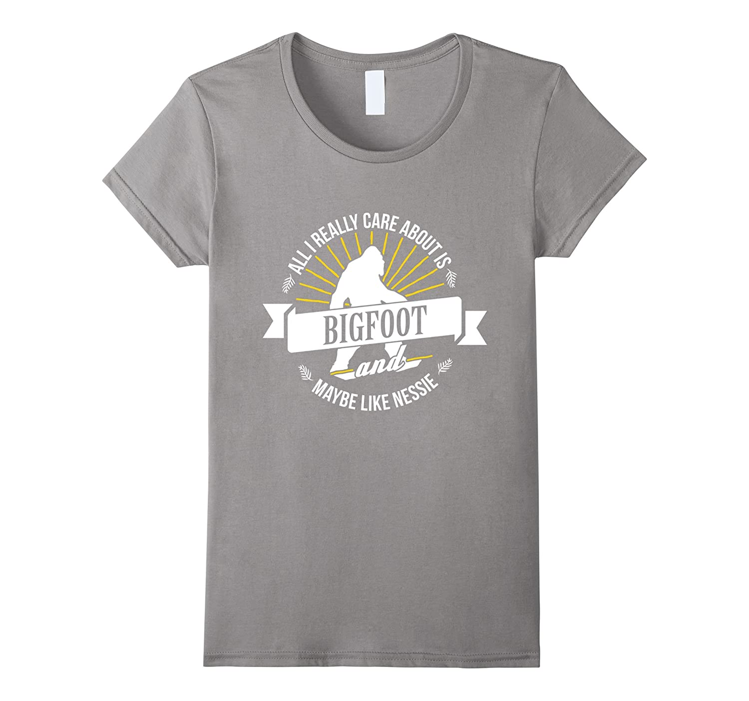 All I Really Care About Is Bigfoot Animals Peace Love Tee