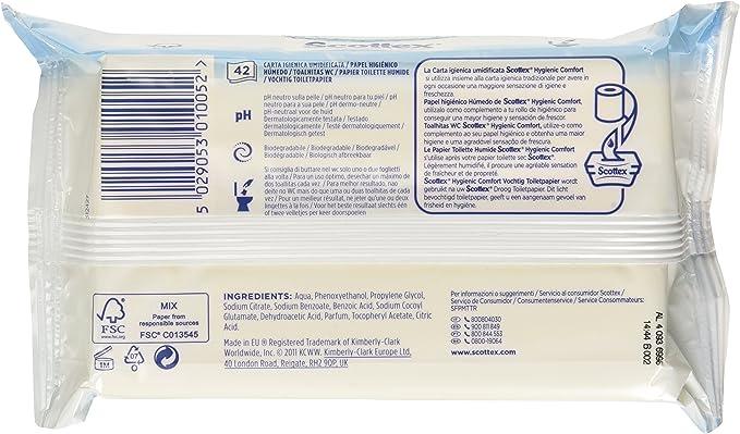 Scottex Fresh Papel Higiénico Humedo - 42 toallitas: Amazon.es ...