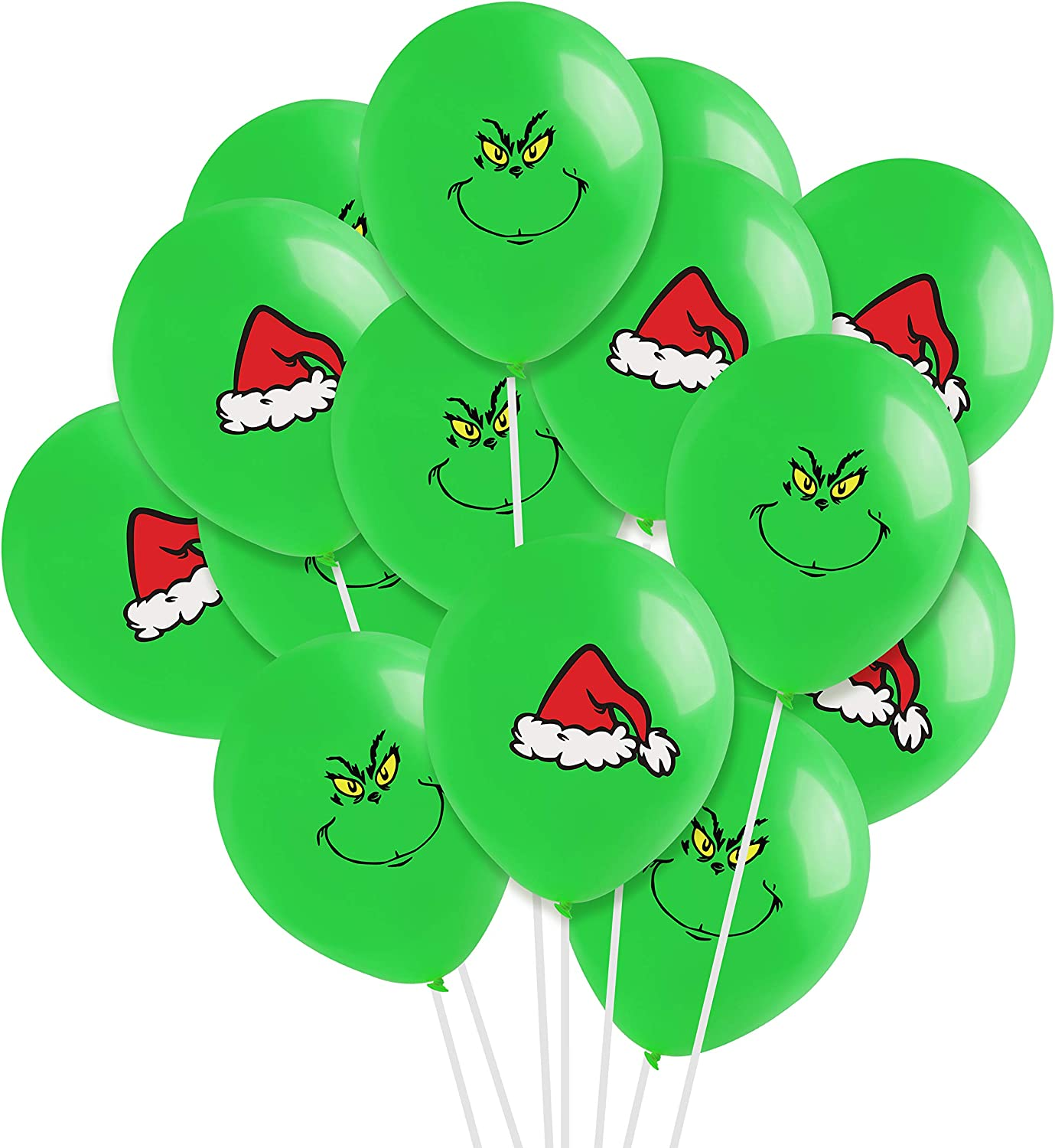 The Grinch Party Supplies Big Balloon Decoration Bundle for Birthday or Christmas Made in USA